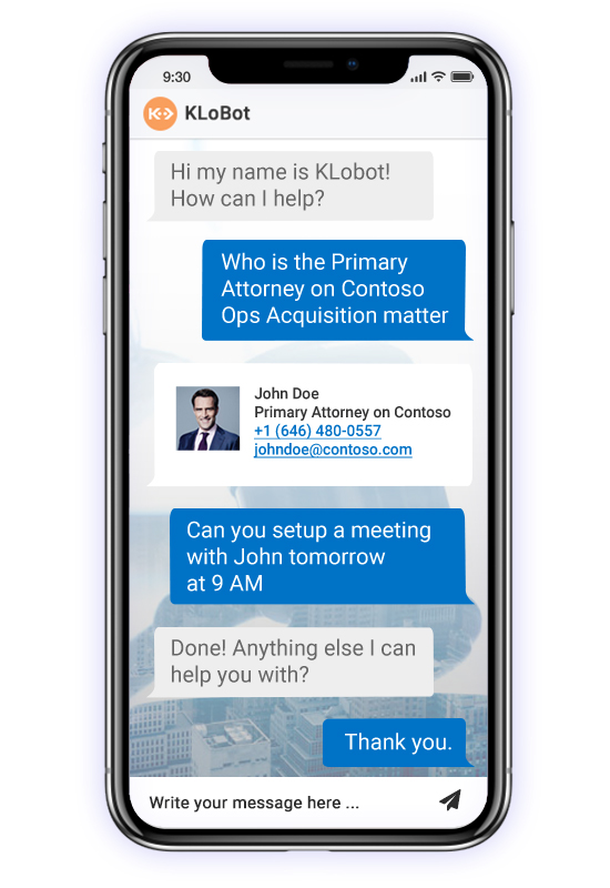 klobot on mobile device